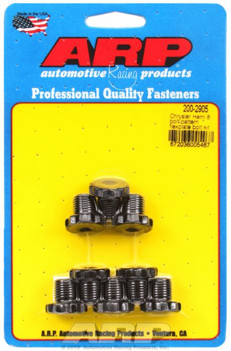 "ARP - ARP2002905 - ARP  Automatic Transmission Flexplate Bolt Kit- Pro Series -Chrysler Hemi 1/2""-20 X .500"" -12 Point Black Oxide Coated"