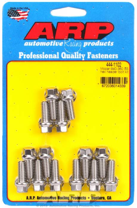 "ARP - ARP4441102 -ARP Header Bolt Kit- Chrysler - 5/16"" X .750""- Stainless Steel- 6 Point Nuts-Qty.-14"