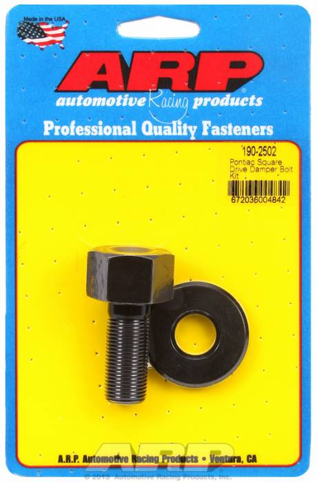 "ARP - ARP1902502 - ARP Square Drive Balancer Bolt, 1/2"" Head With Washer- Pontiac V8- 5/8"" - 5/8""-18 Thread-"