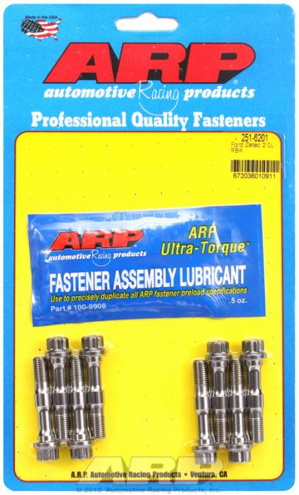 ARP - ARP2516201 -ARP High Performance Pro ARP2000 Rod Bolts- Ford RS2000 8mm- Complete Set