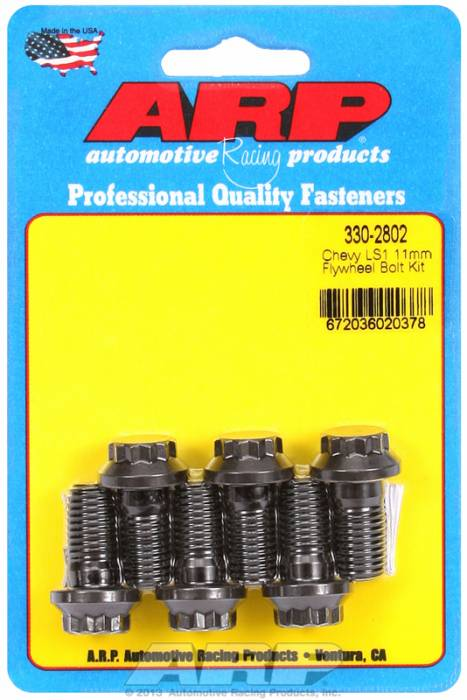 "ARP - ARP3302802 - ARP  Manual Transmission Flywheel Bolt Kit- High Performance -Chevy LS1-LS6- Gen III Engines- M11 X 1.5mm X .800"" Long"