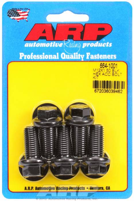 ARP - ARP6641001 - HEX BLK OXIDE BOLTS