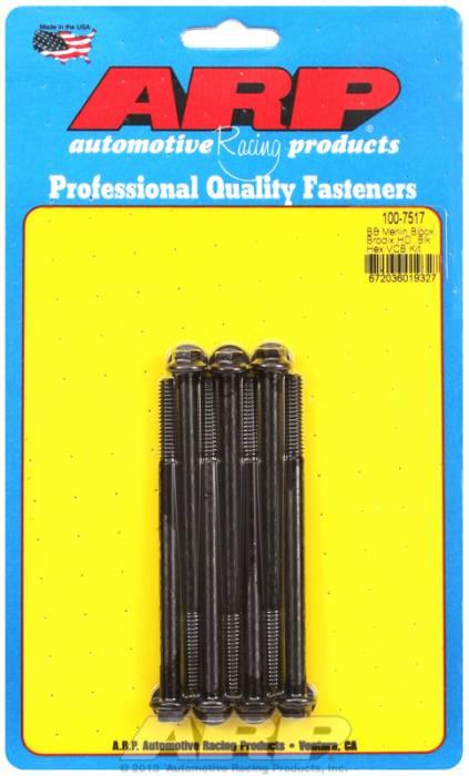 "ARP - ARP1007517 - ARP Valve Cover Bolt Kit - For Brodix Bb Chevy Head- 1/4""-20 X .4.00"" - Black Oxide - 6 Point Head-Qty.-7"