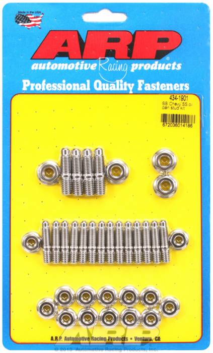ARP - ARP4341901 - ARP Oil Pan Stud Kit- Small Block Chevy- Stainless Steel- 6 Point