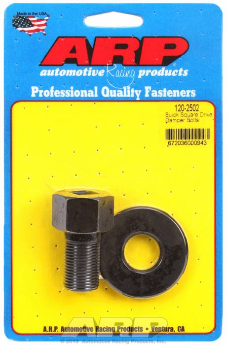 "ARP - ARP1202502 - ARP Square Drive Balancer Bolt, 1/2"" Head With Washer-Buick V8-  3/4""-16 Thread"