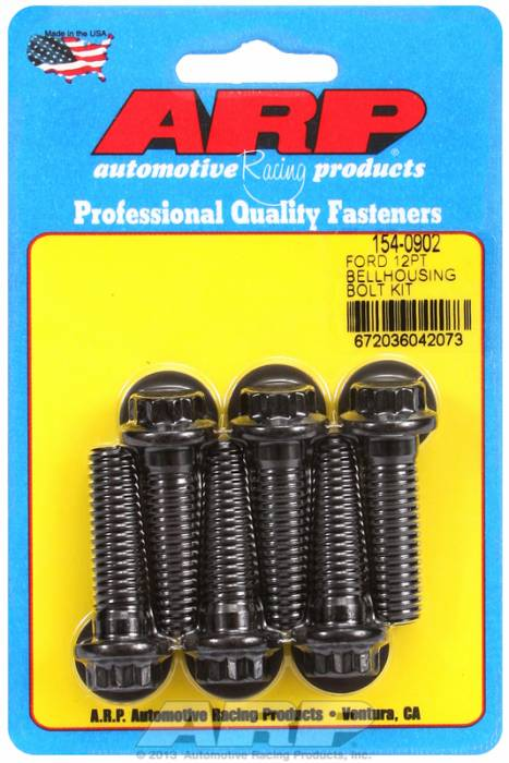 ARP - ARP1540902 - Bellhousing to Engine Block Bolt Kit, Ford 289-302-351W small block - Automatic Transmission, Black Oxide, 12-Point Head, 1.500 OAL, 7/16-14