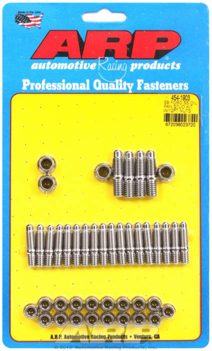 ARP - ARP4541903 - ARP Oil Pan Stud Kit- Ford 289-302-351C-351W- Stainless Steel- 12 Point