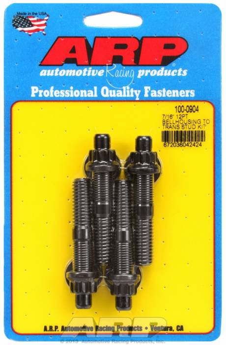 ARP - ARP1000904 - ARP Bellhousing Stud Kit, Bellhousing to Manual Transmission, Universal, 7/16-14, Black Oxide, 12 Point Head, 2.750 OAL