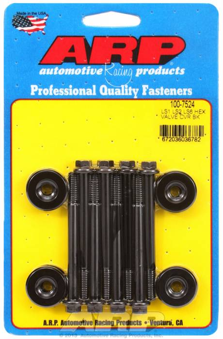 "ARP - ARP1007524 - ARP Valve Cover Bolt Kit - Chevy Gen III/LS Series - M6 X 2.755"" Black Oxide, Hex Head, Qty. -8"