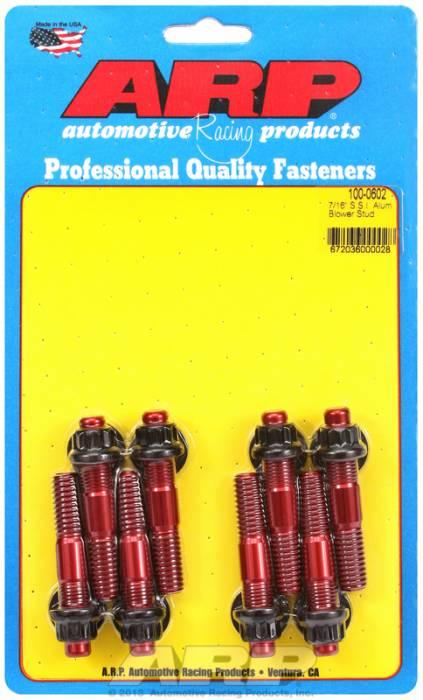 "ARP - ARP1000602 - ARP Break-Away Ssi Blower Stud Kit (Red Anodized) - 7/16"" Diameter, 2.50 Overall Length"