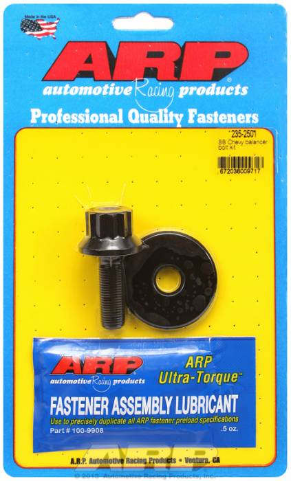 "ARP - ARP2352501 - ARP Balancer Bolt- Small Block Chevy - 13/16"" Head- 7/16""-20 Thread- 12 Point Head With Washer"
