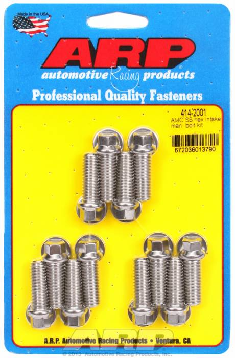 ARP - ARP4142001 - ARP Intake Manifold Bolt Kit- AMC 290-343-390- Stainless Steel- 6 Point Head