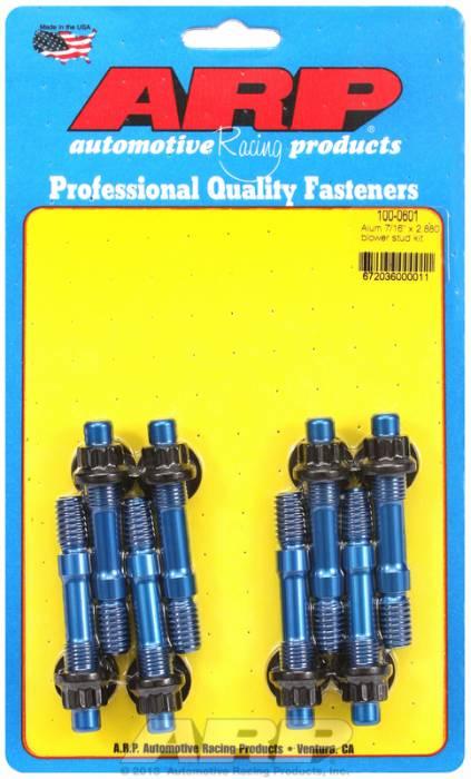 """ARP - ARP1000601 - ARP Break-Away Blower Stud Kit (Blue Anodized) - 7/16"""" Diameter, 2.88 Overall Length"""