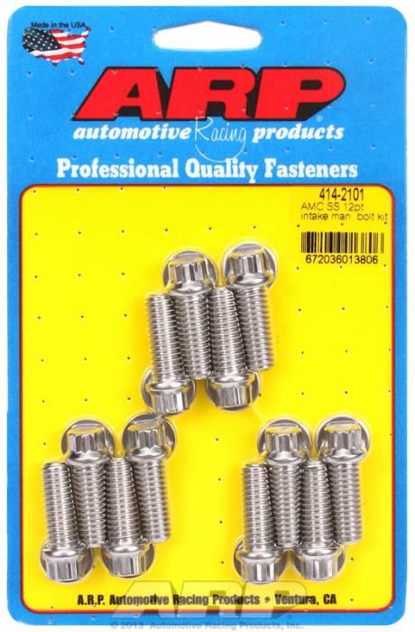 ARP - ARP4142101 - ARP Intake Manifold Bolt Kit- AMC 290-343-390- Stainless Steel- 12 Point Head