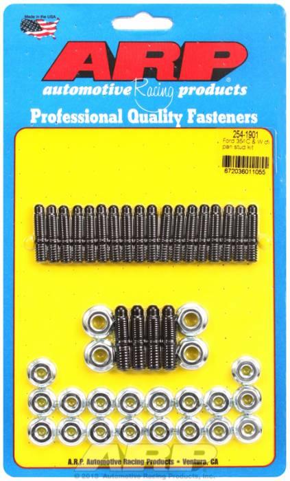 ARP - ARP2541901 -ARP Oil Pan Stud Kit- Ford 289-302-351C-351W- Black Oxide- 6 Point