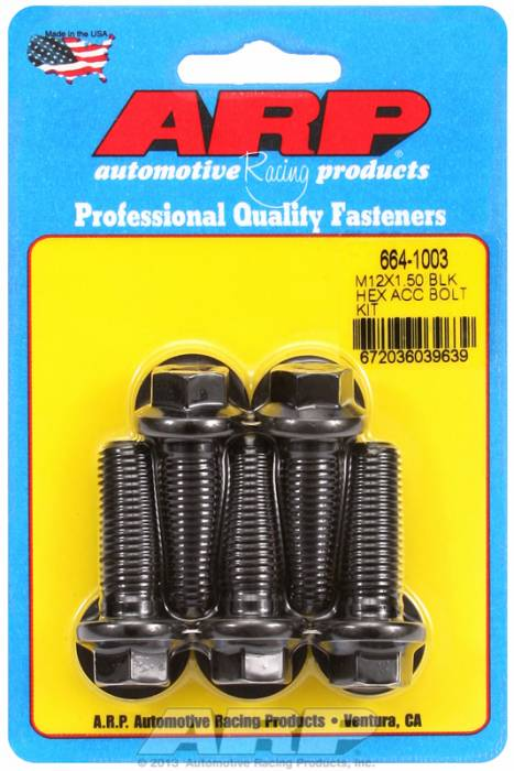 ARP - ARP6641003 - HEX BLK OXIDE BOLTS