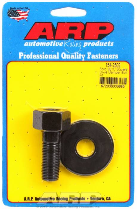 "ARP - ARP1542502 - ARP Square Drive Balancer Bolt, 1/2"" Head With Washer- Ford 351C-  5/8""-18 Thread-"