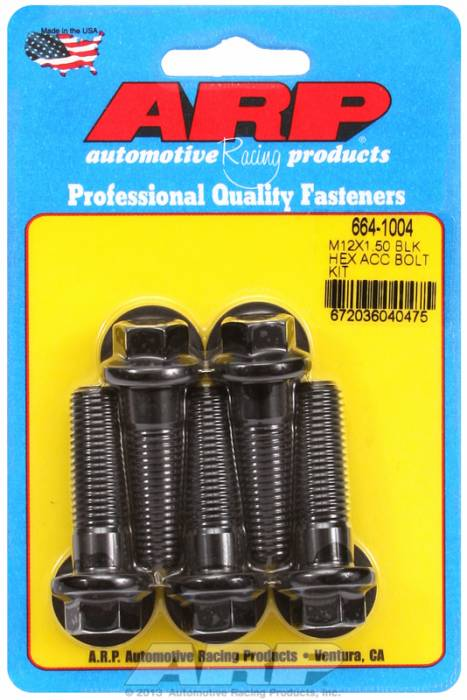 ARP - ARP6641004 - HEX BLK OXIDE BOLTS