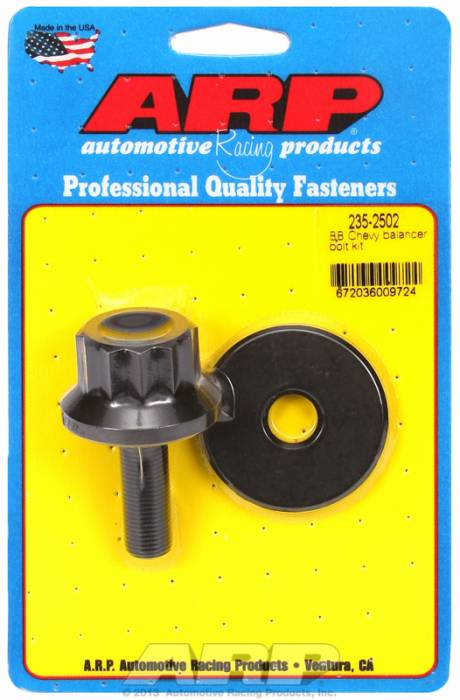 "ARP - ARP2352502 - ARP Balancer Bolt- Big Block Chevy- 1-1/16"" Head- 1/2""-20 Thread- 12 Point Head With Washer"