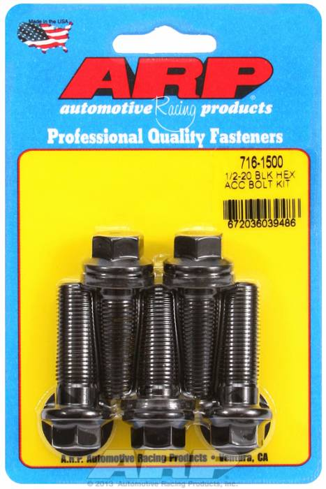ARP - ARP7161500 - HEX BLK OXIDE BOLTS