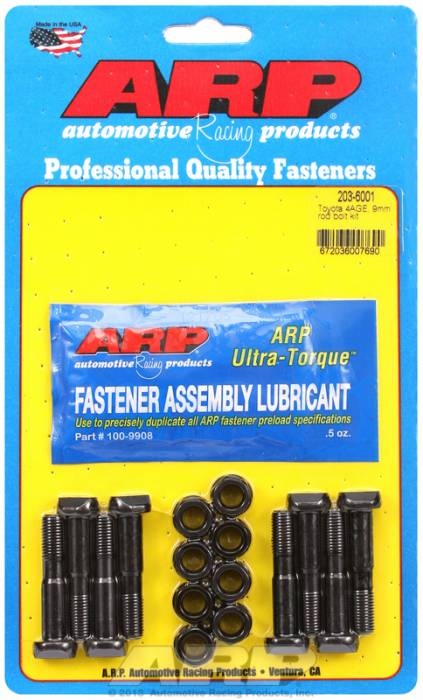ARP - ARP2036001 - ARP High Performance Rod Bolts- Toyota 4Age, 4Alc, 9Mm -Complete Set