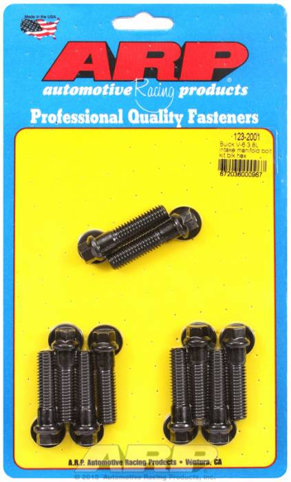 ARP - ARP1232001 - ARP Intake Manifold Bolt Kit- Buick 3.8L V6- Black Oxide- 6 Point Head