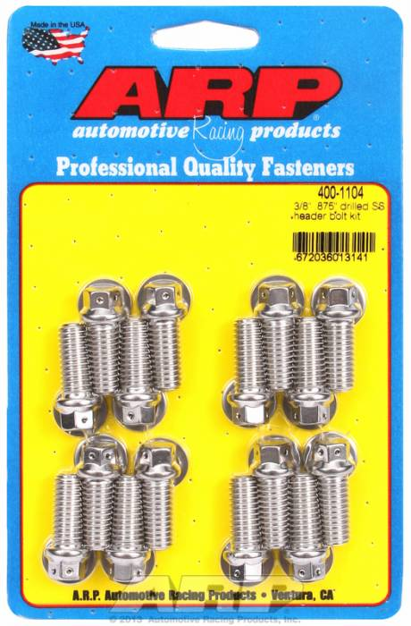 "ARP - ARP4001104 - ARP Header Bolt Kit- Chevy Big Block - 3/8""X .875""- Stainless Steel- 6 Point Nuts-Qty.-16"