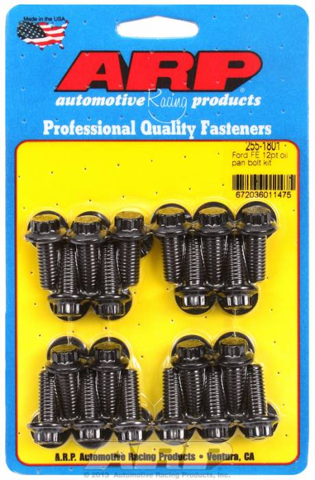 "ARP - ARP2551801 - ARP Oil Pan Bolt Kit- Ford -352-390-428- ""FE"" Big Block- Black Oxide- 12 Point"