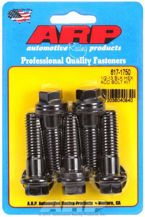 "ARP - ARP6171750 - SAE Bolt Kit, 1/2""-13, 1.750 UHL, 1.250 Thread Length, 0.500 Grip Length, Black Oxide, Hex Head, 5 Pack"