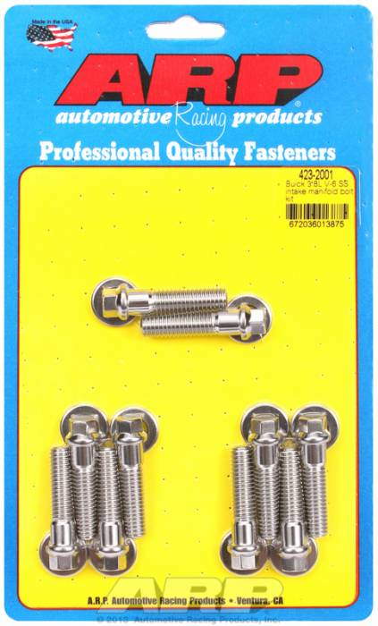 ARP - ARP4232001 - ARP Intake Manifold Bolt Kit- Buick 3.8L V6- Stainless Steel- 6 Point Head