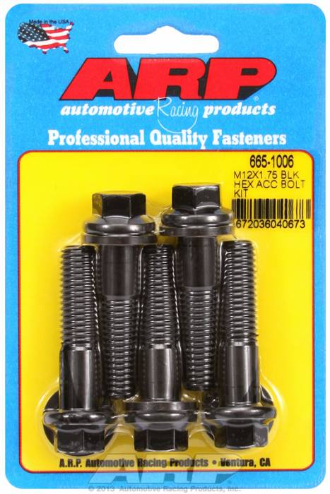 ARP - ARP6651006 - HEX BLK OXIDE BOLTS