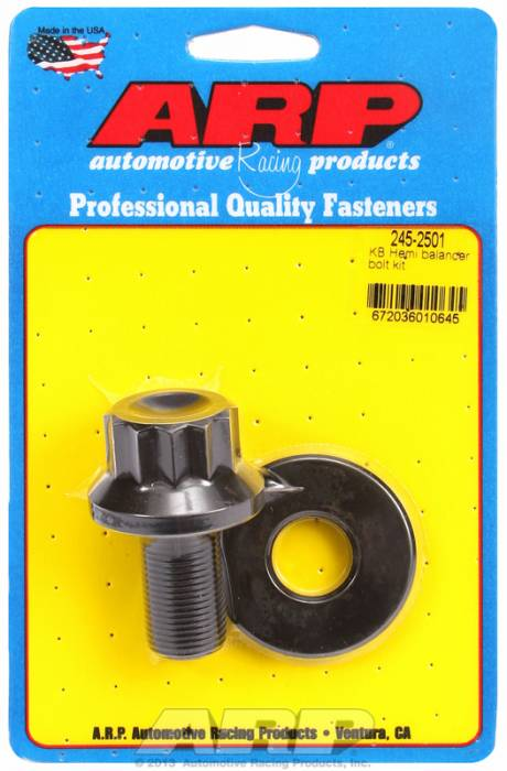 "ARP - ARP2452501 - ARP Balancer Bolt- Keith Black Hemi- 1-1/16"" Head- 3/4""-16 Thread- 12 Point Head With Washer"