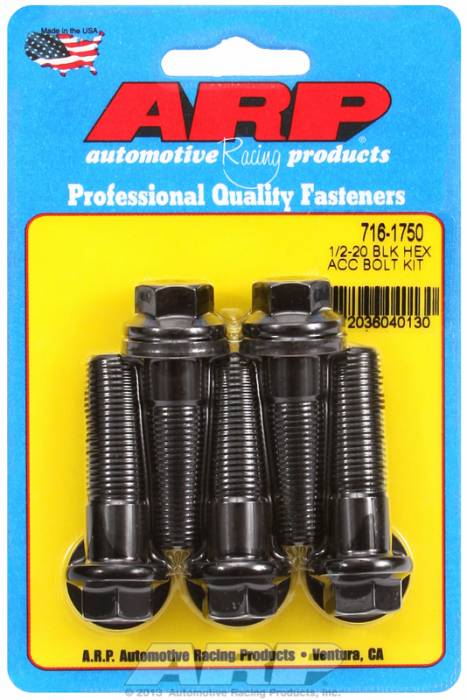 ARP - ARP7161750 - HEX BLK OXIDE BOLTS