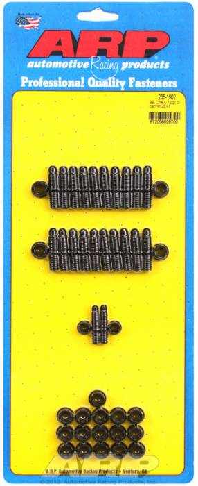 ARP - ARP2351902 - ARP Oil Pan Stud Kit- Big Block Chevy- Black Oxide- 12 Point