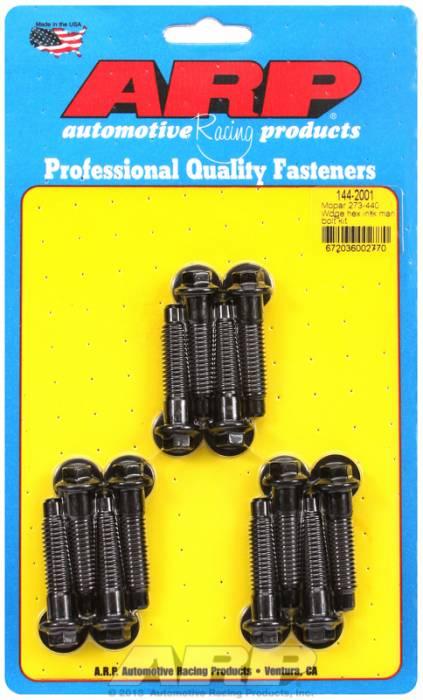 ARP - ARP1442001 - ARP Intake Manifold Bolt Kit- Chrysler Small Block-273-360- Black Oxide- 6 Point Head