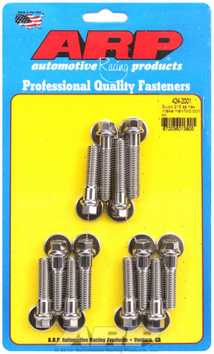 ARP - ARP4242001 - ARP Intake Manifold Bolt Kit- Buick 215 V8- Stainless Steel- 6 Point Head