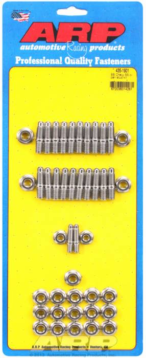 ARP - ARP4351901 - ARP Oil Pan Stud Kit - Big Block Chevy (w/Standard 2-pc. Cork Gasket) - Stainless Steel - 6 Point