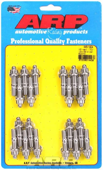 "ARP - ARP4451904 - ARP Oil Pan Stud Kit- Keith Black Hemi- 1.70""- Stainless Steel- 12 Point"