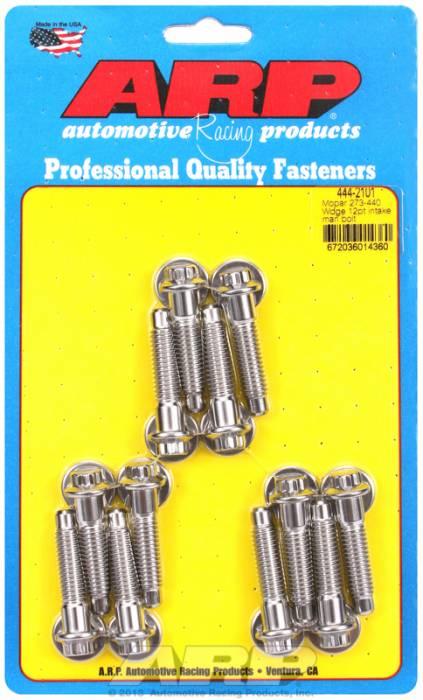 ARP - ARP4442101 - ARP Intake Manifold Bolt Kit- Chrysler Small Block-273-360-Stainless Steel- 12 Point Head