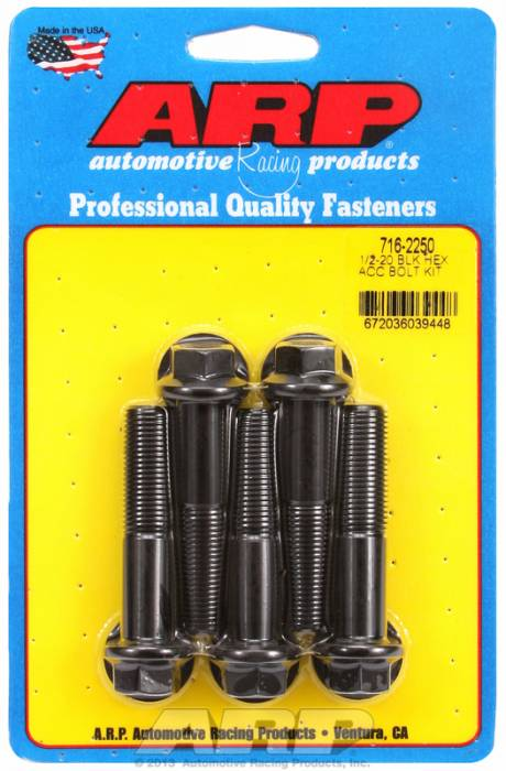 ARP - ARP7162250 - HEX BLK OXIDE BOLTS