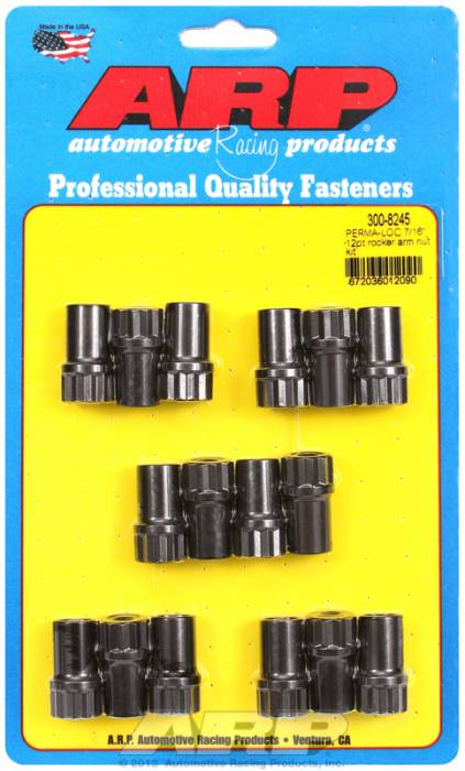 "ARP - ARP3008245 - Adjustable 7/16"" 12pt rocker arm nut kit"