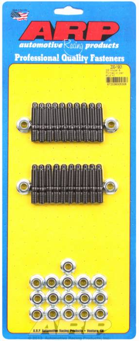 ARP - ARP2001901 - ARP Oil Pan Stud Kit- Small Block Chrysler & Pontiac V8- Black Oxide- 6 Point