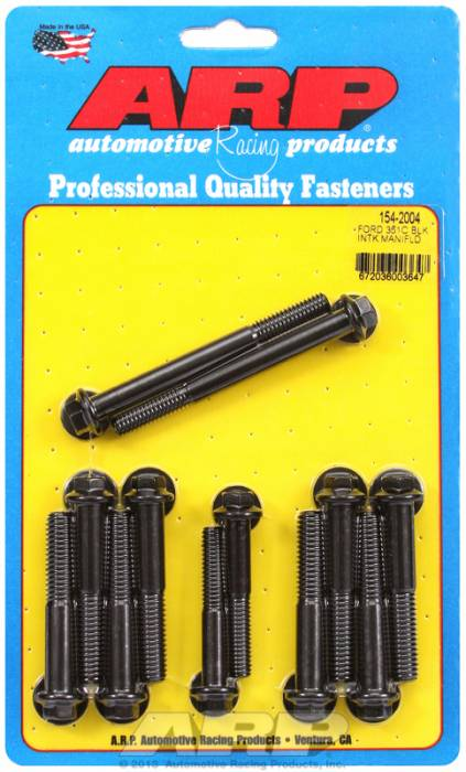 ARP - ARP1542004 - ARP Intake Manifold Bolt Kit- Ford -351C-351M-400B- Black Oxide- 6 Point Head
