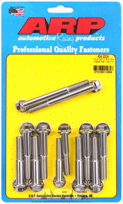 ARP - ARP4542004 - ARP Intake Manifold Bolt Kit- Ford -351C-351M-400B- Stainless Steel- 6 Point Head