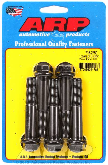 ARP - ARP7162750 - HEX BLK OXIDE BOLTS