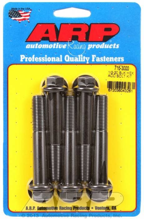 ARP - ARP7163000 - HEX BLK OXIDE BOLTS