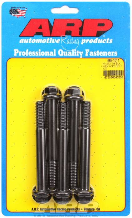 ARP - ARP6651011 - HEX BLK OXIDE BOLTS