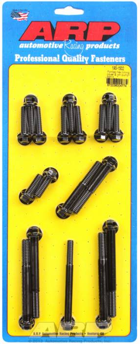 ARP - ARP1901502 - ARP Timing Cover & Water Pump  Bolt Kit- Pontiac V8- Black Oxide- 6 Point Head