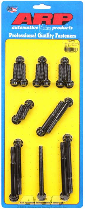 ARP - ARP1901501 -  ARP Timing Cover & Water Pump  Bolt Kit- Pontiac V8- Black Oxide - 12 Point Head