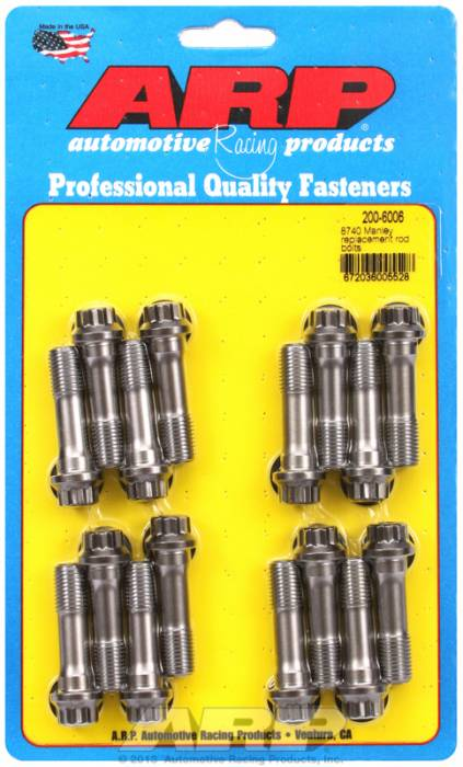 ARP - ARP2006006 - ARP Pro Series Connecting Rod Bolts - Fit Manley #14051 & Manley #14055 LS1 Gen III Connecting Rods - Set Of 16